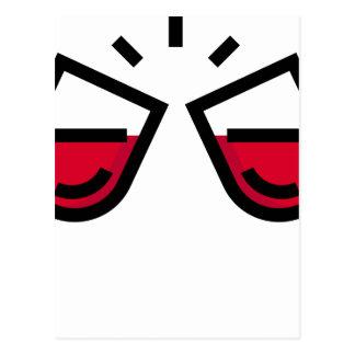 Carte Postale Tintement en verre de vin