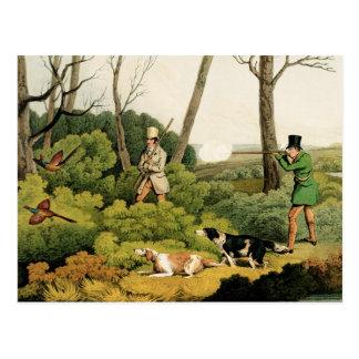 """Carte Postale """"Tir de faisan"""", pub. par Thomas McLean, 1820 ("""