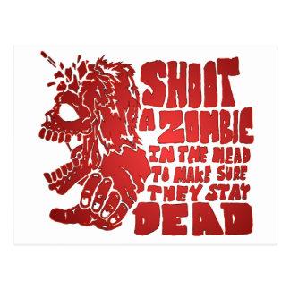 Carte Postale Tirez un zombi dans la tête