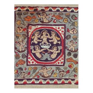 Carte Postale Tissu dépeignant Vénus Anadyomene, d'Antinoe