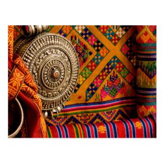Carte Postale Tissus, Bhutan