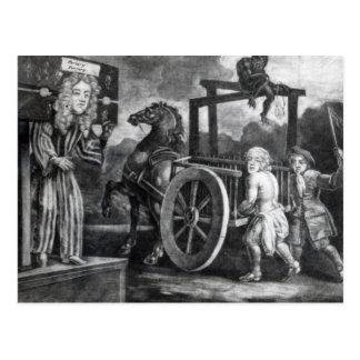 Carte Postale Titus Oates le troisième jour de sa punition