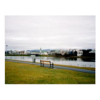 Carte Postale Tjorn (l'étang), Reykjavik, Islande