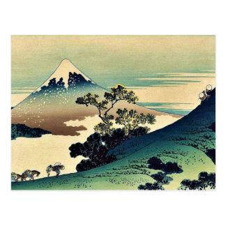Carte Postale Toge d'inume de Koshu par Katsushika, Hokusai