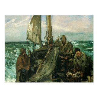 Carte Postale Toilers de la mer par Manet, impressionisme