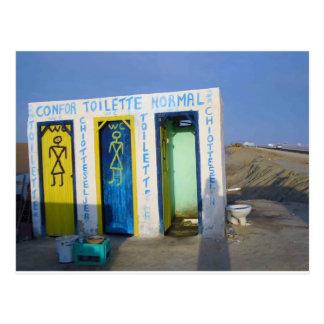 Carte Postale Toilette de bord de la route en Tunisie