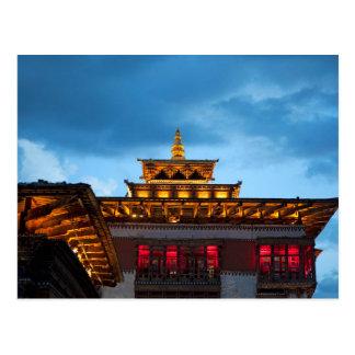 Carte Postale Toit bouddhiste de Dzong