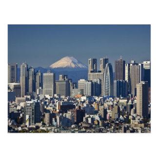 Carte Postale Tokyo, horizon de secteur de Shinjuku, le mont