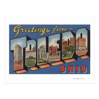 Carte Postale Toledo, lettre ScenesToledo, OH d'OhioLarge