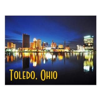 Carte Postale Toledo, Ohio au crépuscule