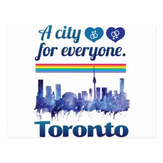 Carte Postale Tolérance amicale de ville de Wellcoda Toronto