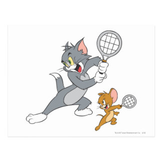 Carte Postale Tom et stars du tennis 1 de Jerry
