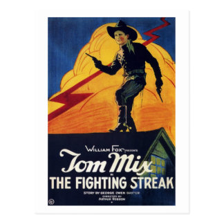 "Carte Postale Tom Mix en ""carte postale du filet de combat"""