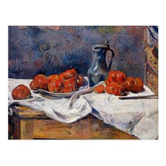 Carte Postale Tomates de Paul Gauguin- et chope d'étain sur la