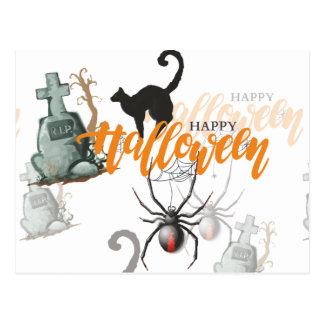 Carte Postale Tombe d'araignée de Halloween