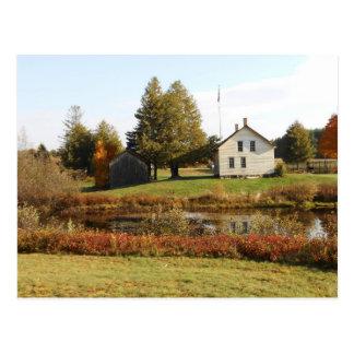 Carte Postale Tombe historique d'automne d'Adirondack de ferme