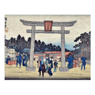 Carte Postale Tombeau de Sanno chez Nagatanobaba par Ando,