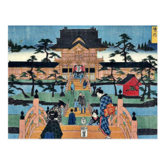 Carte Postale Tombeau intérieur de Kameido Tenmangu par Ando,