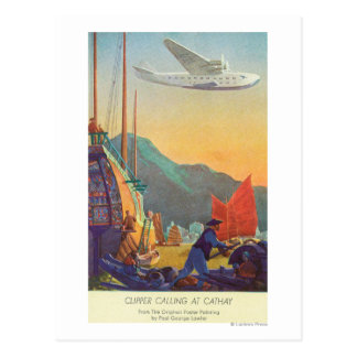 Carte Postale Tondeuse Casserole-Américaine volant au-dessus de