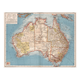 Carte Postale Topographie australienne Map (1905)