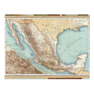 Carte Postale Topographie du Mexique