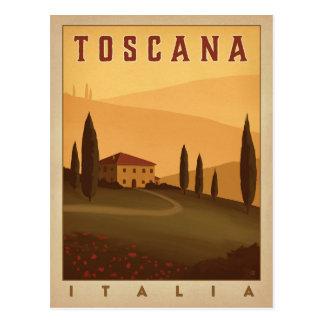 Carte Postale Toscane, Italie