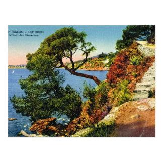 Carte Postale Toulon, casquette Brun, 1924