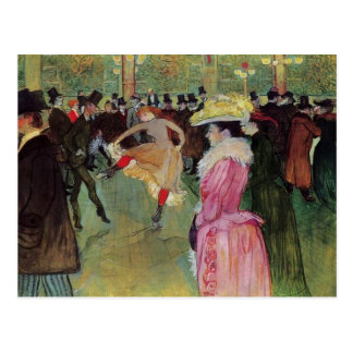 Carte Postale Toulouse-Lautrec, au fard à joues, la danse