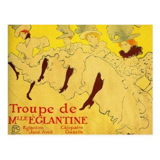 Carte postale :  Toulouse-Lautrec - troupe de