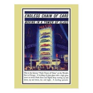 Carte Postale Tour 1933 de voiture de Nash d'expo de Chicago de