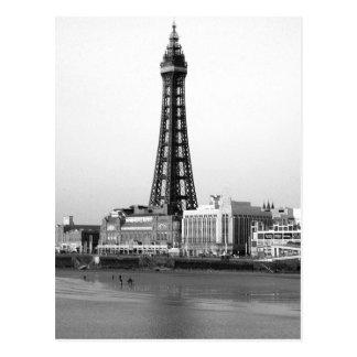 Carte Postale Tour B/W de Blackpool