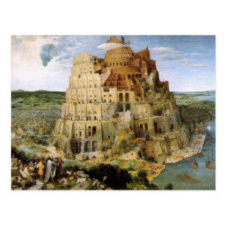 Carte Postale Tour de Babel - Peter Bruegel