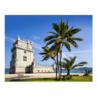 Carte Postale Tour de Belem, Lisbonne, Portugal