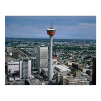 Carte Postale Tour de Calgary, Alberta, Canada