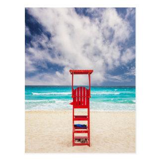 Carte Postale Tour de maître nageur sur la plage | Cancun,