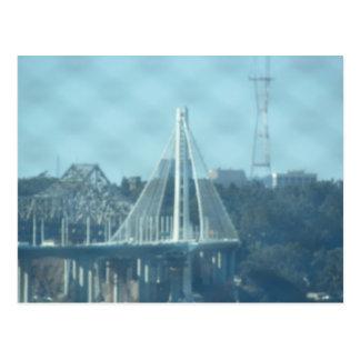 Carte postale - tour de pont de baie d'Oakland