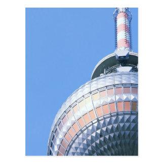Carte Postale Tour de télévision de Berlin
