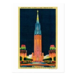Carte Postale Tour d'exposition, la flèche au Sun