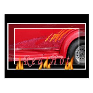Carte Postale Tour d'un rouge ardent