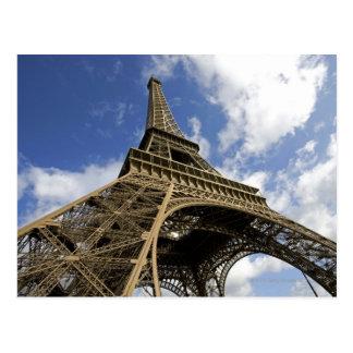 Carte Postale Tour Eiffel d'angle faible