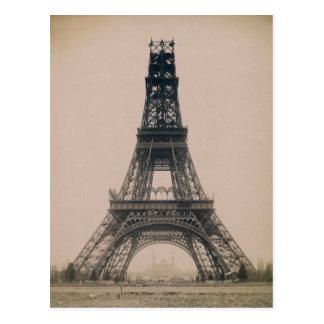 Carte Postale Tour Eiffel : État de la construction 1888