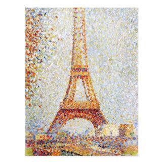 Carte Postale Tour Eiffel par des beaux-arts de Seurat