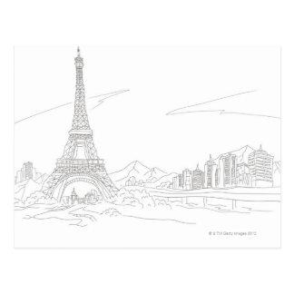 Carte Postale Tour Eiffel, Paris