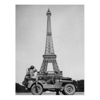 Carte Postale Tour Eiffel Paris France 2ÈME GUERRE MONDIALE