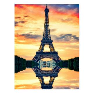 Carte Postale Tour Eiffel Paris même le voyage européen
