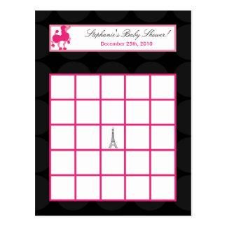 Carte Postale Tour Eiffel programmable de Paris de caniche de