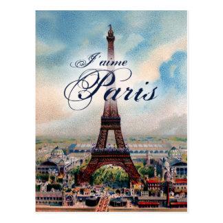 Carte Postale Tour Eiffel vintage