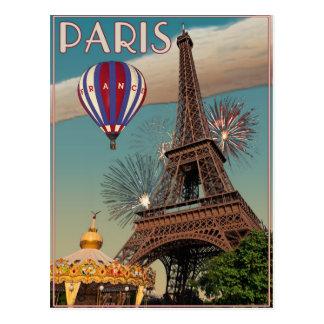 Carte Postale Tour Eiffel vintage - 18x24