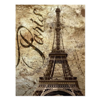 Carte Postale Tour Eiffel vintage de Paris