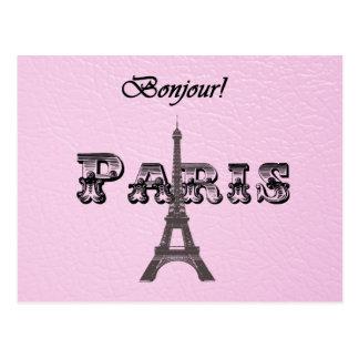 Carte Postale Tour Eiffel vintage de Paris Bonjour